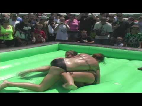 Oil Wrestling - Match 1 - Bikes & Babes BBQ 2009