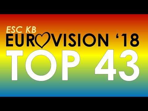 My Eurovision 2018 top 43 WITH HONEST COMMENTS