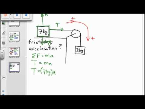 Physics Pulley On A Table Youtube