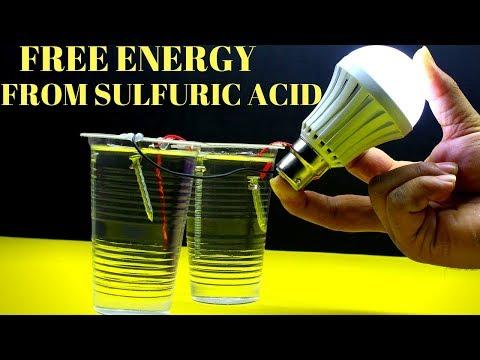 Free Energy Light Bulbs For Lifetime - Using Sulfuric Acid - Free Energy Sulfuric Acid thumbnail