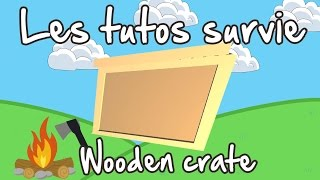 Unturned FR tuto survie : Wooden crate craft
