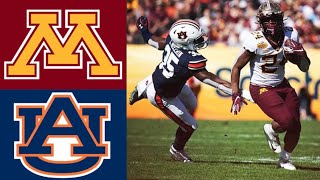 #18 Minnesota vs #12 Auburn Outback Bowl First Half Highlights | 2020 College Football Highlights
