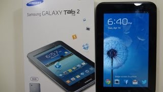 Samsung Galaxy Tab 2 7.0 Unboxing & First Boot