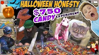 HALLOWEEN TRICK OR TREATER EXPERIMENT  HONESTY TEST w  $750 TREATS  FV Greedy Vlog