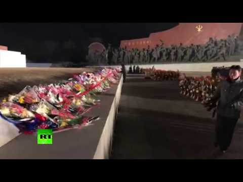 North Koreans pay tribute to Kim Jong-il on the 6th anniversary of his death