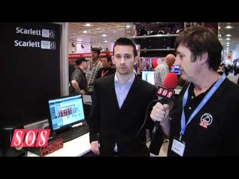 Focusrite Scarlett 18i and 8i - Musikmesse 2011