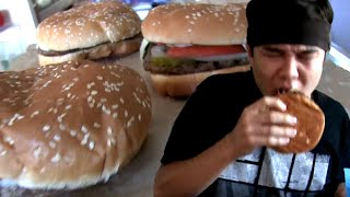 4 Whoppers Eaten in 60 Seconds
