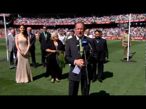 Boxing Day Test 2012 - Australia V Sri Lanka National Anthems video