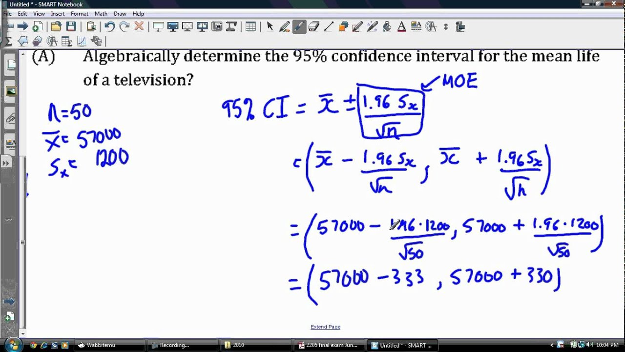 95  Confidence Interval  F Table 95 Confidence