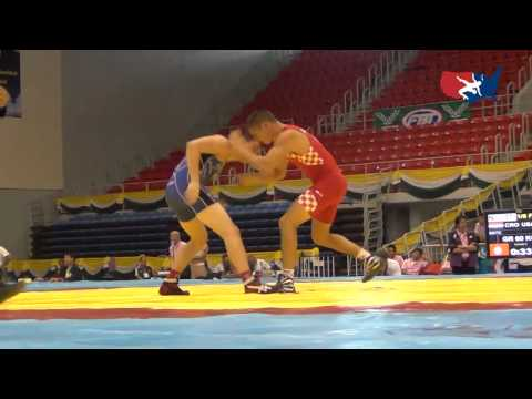 2012 Junior Worlds - GR 60kg - Jesse Thielke (USA) vs. Kristijan Simatic (CRO)