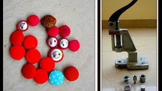 FABRIC PRESSING BUTTON MAKING - A COMPLETE TUTORIAL