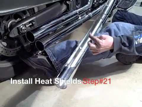 Motorcycle Exhaust Pipes - Step by Step Installation - Video Guide: Tip of the Week
