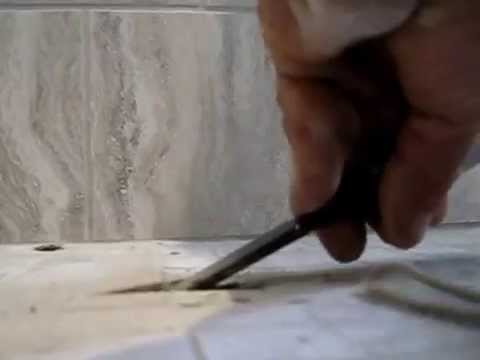 how to remove replace and fix damaged cracked ceramic tile shower floor for repair