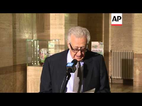 Brahimi gives news conference after trilateral meeting on Syria