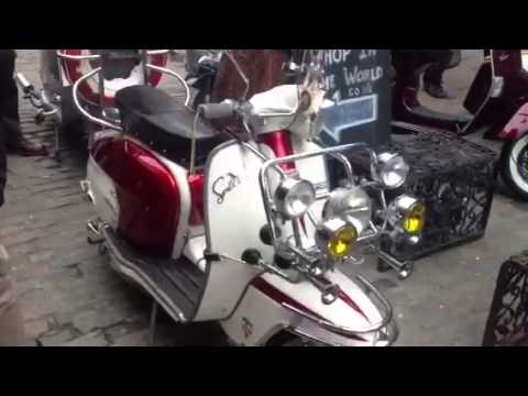 Classic Lambretta & Vespa Scooters @ Modfather Clothing Cam