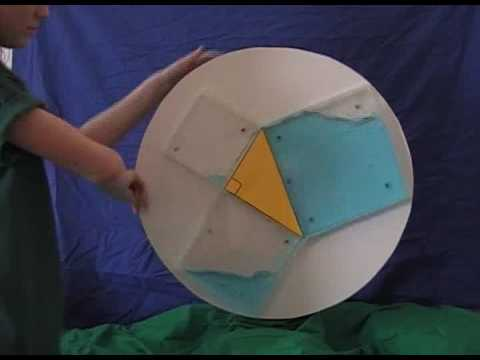 Pythagorean theorem water demo - YouTube
