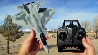 Eachine VolantexRC EXHobby F-22 Raptor RC Airplane Flight Test Review