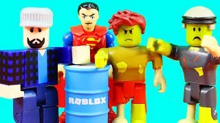 Roblox Zombie Attack Imaginext Superman Fights Off Zombie Invasion Apocalypse + Zombie Goes To Jail