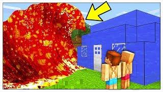 ONDA GIGANTE DI LAVA CONTRO BASE DI ACQUA! - Minecraft ITA
