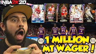 THE BIGGEST 1 MILLION MT WAGER VS YOUTUBER WITH A BETTER TEAM AND THE BEST TEAM IN NBA 2K20 MYTEAM