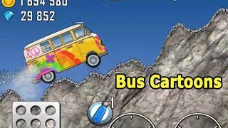 Kids Videos For Kids Episode 27- Funny Bus Cartoon For Kids |Hill Climb Racing|