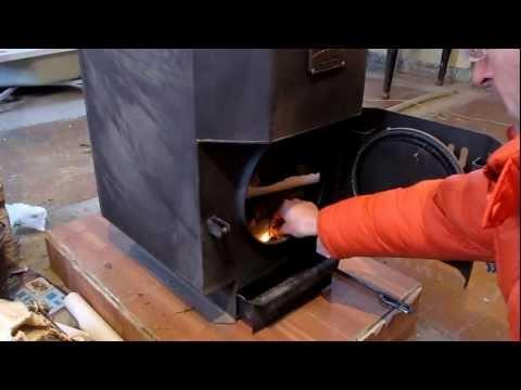 Печка Бутакова. запуск зимой нахолодную