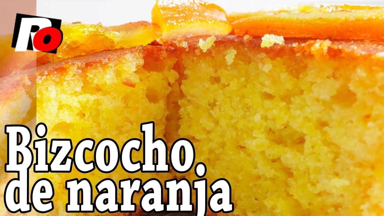 Bizcocho de naranja f cil recetas de cocina youtube for Cocinar facil