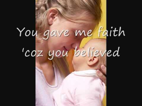 Because You Loved Me, Celine Dion (with Lyrics) - Dedication to Mothers