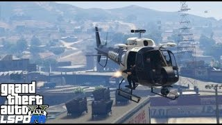 GTA 5 LSPDFR Police Mod 177 | Swat Helicopter Patrol | Noose Air Support Taking Out Armed Targets