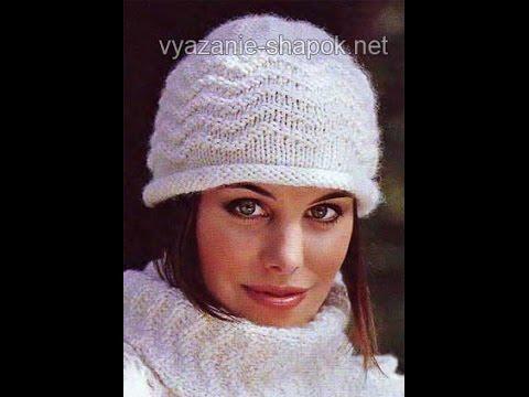 Связать шапку спицами женская фото