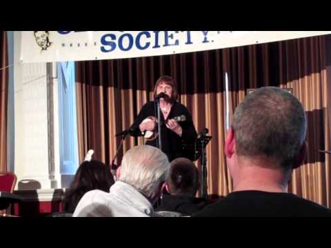 Janice Escourt performs at the March 2013 George Formby Society convention