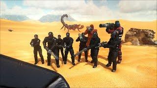 ARK Survival Evolved Ss6 #28 : Lính NPC quân đội tinh nhuệ , súng máy các kiểu (Black Triber)