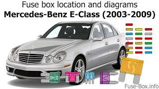 Fuse box location and diagrams: Mercedes-Benz E-Class (2003-2009)