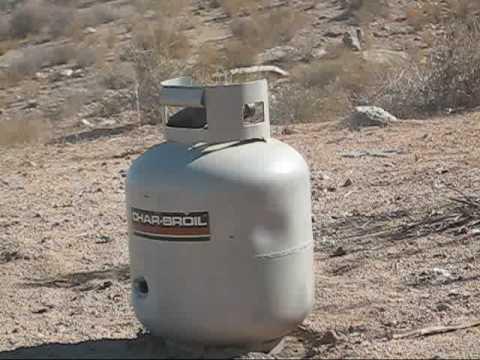 KilsJihad! Freshie Propane Tank vs .50 AE Desert Eagle & 10mm .wmv