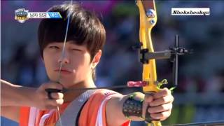 ▶ EXO Team   Archery Cut @ Idol Star Athletics Championships 130919