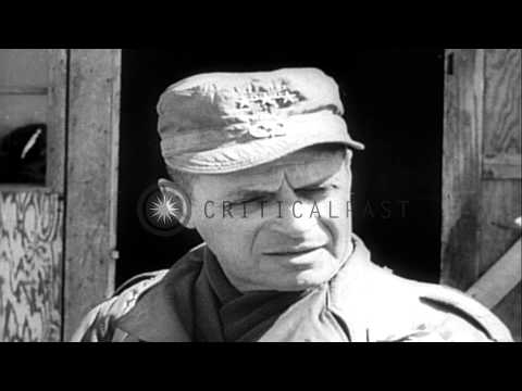 General Matthew Ridgway takes over from General MacArthur in Korea. HD Stock Footage
