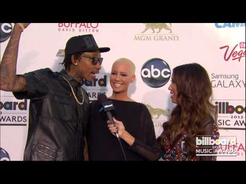 Amber Rose and Wiz Khalifa on the Billboard Music Awards Blue Carpet 2013