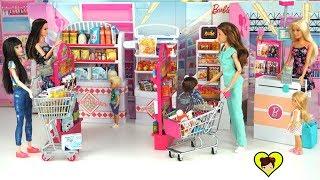 Supermercado de Juguete con Accesorios Miniatura para Muñecas Barbie