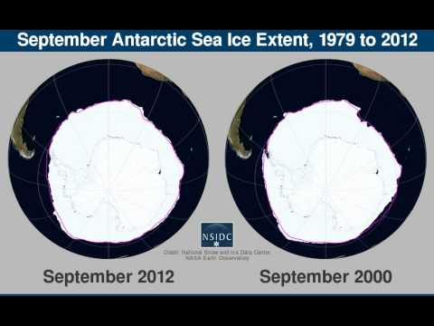 Antarctic Sea Ice Extent, 1979-2012: From NSIDC