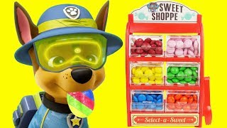 Learn Colors with Paw Patrol Steal M&M's and Lego Wrong Heads, Skye & Chase Gumballs   Sparkle Spice