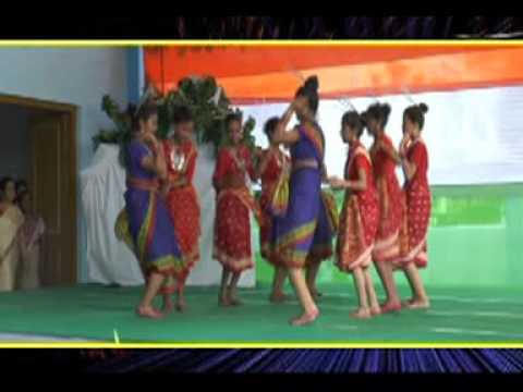 THDC High School performance Rajasthani Oria Garhwali songs on Independence day