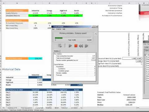 Excel Simulation Show Down III : Correlating Assumptions with Oracle Crystal Ball