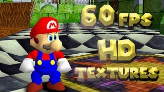 Super Mario 64 like you've never seen before. [60fps Mod + HD TEXTURES]