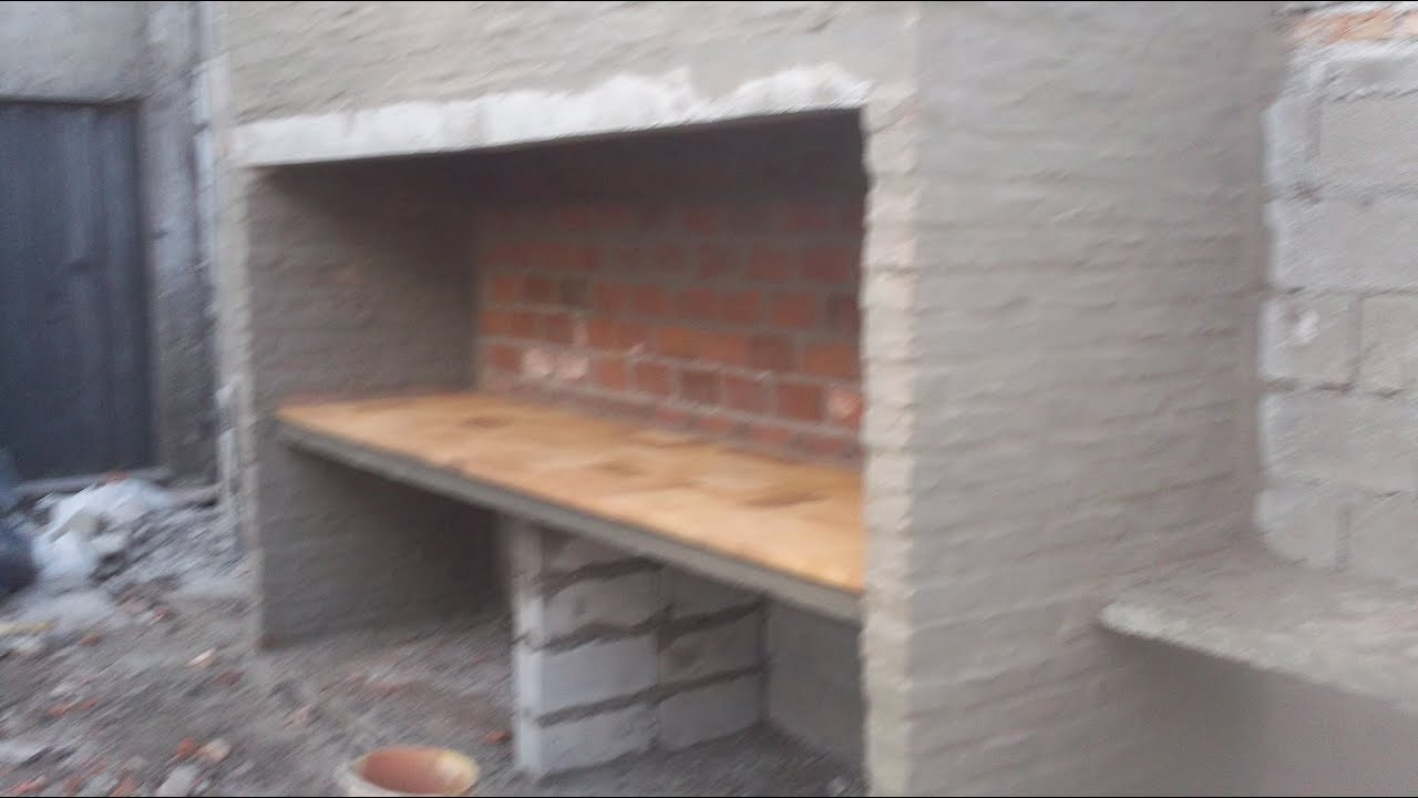 Construccion de asador doble parte 1 de 3 youtube for Asadores de carne para jardin de ladrillo