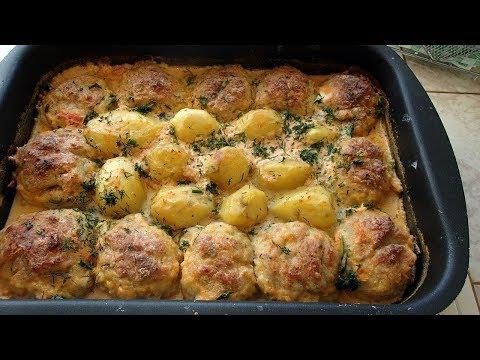 Обед для всей семьи. Котлеты с картошкой запечные в духовке.
