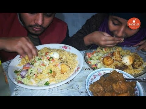 Eating Delicious Kacchi Biryani With Chicken (Turkey) Kosha || Eating Show || Bachelor Foodie