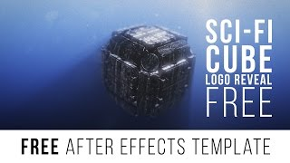 "FREE After Effects Template ""Sci-fi Cube Logo Reveal"""