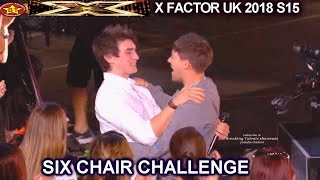 Brendan Murray Gets Golden Buzzer sings Everybody Hurts  | Six Chair Challenge X Factor UK 2018