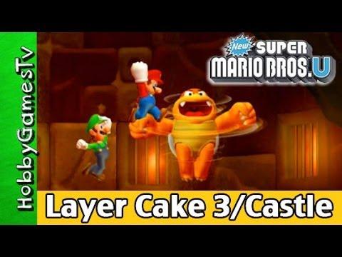 Super Mario Bros.U Layer Cake Desert 3 and Castle HobbygamersTV HobbyDad HobbyKid Wii U