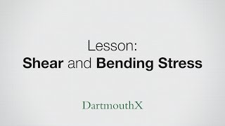 Beams - shear stress and bending stress